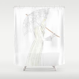 jessamine with her parasol Shower Curtain