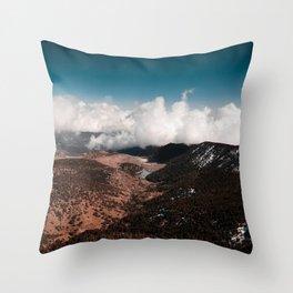 Adventure unfolds Throw Pillow