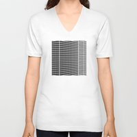 buildings V-neck T-shirts featuring TWO BUILDINGS by THE USUAL DESIGNERS