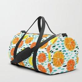 Citrus Lily (white) Duffle Bag
