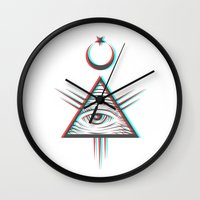 occult Wall Clocks featuring occult +++ by calix