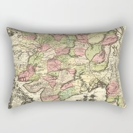 Map of India (1735) Rectangular Pillow
