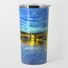 Margaret Bridge Budapest Van Goth Travel Mug
