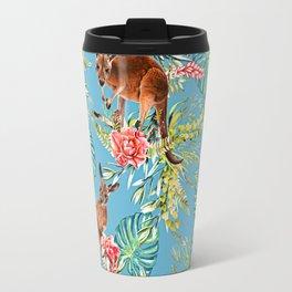 Kangaroos Pattern Travel Mug