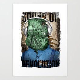 Mr. Iguana Art Print