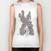 donald duck Biker Tanks featuring Mickey Mouse and Donald Duck Prints  by Dani