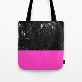 Pink Meets Black Marble #1 #decor #art #society6 Tote Bag