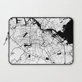 Amsterdam White on Black Street Map Laptop Sleeve
