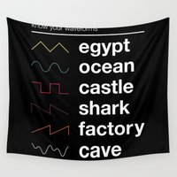 physics Wall Tapestries featuring Know your Waveforms by Florent Bodart / Speakerine