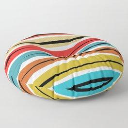 Multicolored Stripes Floor Pillow