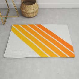 Orange Color Drift Rug