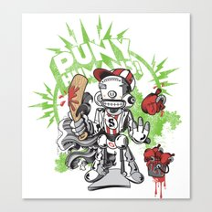 Lil' Sluggerbot! Canvas Print