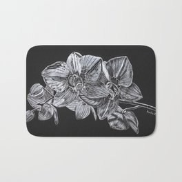 Silver Orchid Bath Mat
