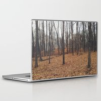 indiana Laptop & iPad Skins featuring Indiana Forest by Kurt Rahn