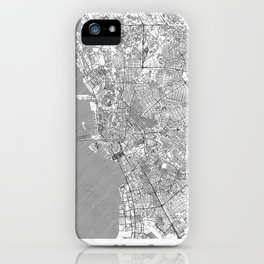 Manila Map Line iPhone Case