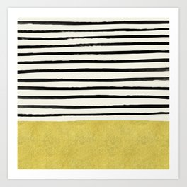 Gold x Stripes Art Print