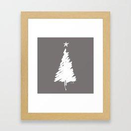 snow on a Xmas tree Framed Art Print