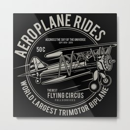 Aeroplane Rides Metal Print