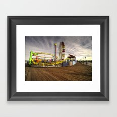 Santa Monica Pier  Framed Art Print