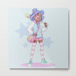 Pastel bad girl Metal Print