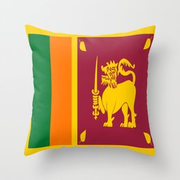 Flag of sri Lanka -ceylon,India, Asia,Sinhalese, Tamil,Pali,Buddhist,hindouist,Colombo,Moratuwa,tea Throw Pillow