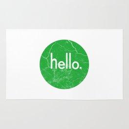 Hello - Green Rug