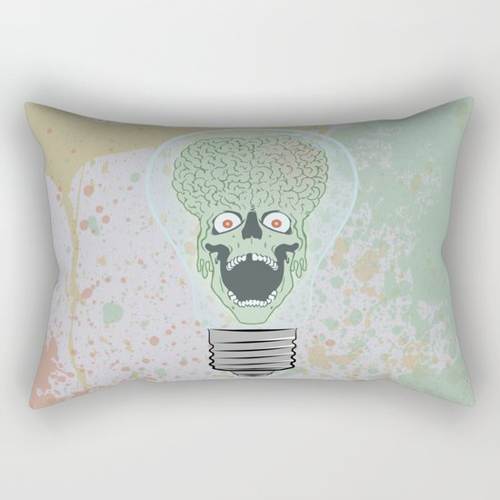 Think Martian  Rectangular Pillow