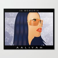 aaliyah Canvas Prints featuring Aaliyah by itsme23