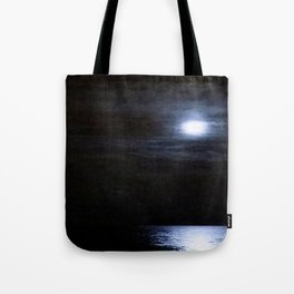 Moon Over Lake Michigan Tote Bag