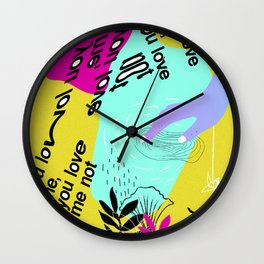 Saturated thoughts Wall Clock