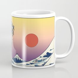 The Great Wave Of  Cat Coffee Mug