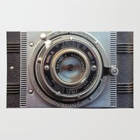 aperture Area & Throw Rugs featuring Detrola (Vintage Camera) by RichCaspian