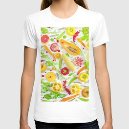 Fruits and vegetables pattern (12) T-shirt
