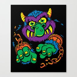 My Pet Monster Canvas Print