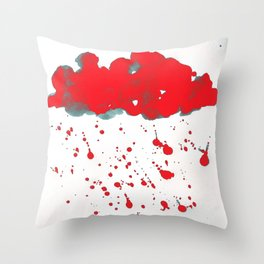 Red Red Clouds Throw Pillow