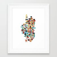 mid century Framed Art Prints featuring Mid Century One by Tina Carroll