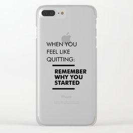Remember Why You Started - Workout Inspirational Clear iPhone Case