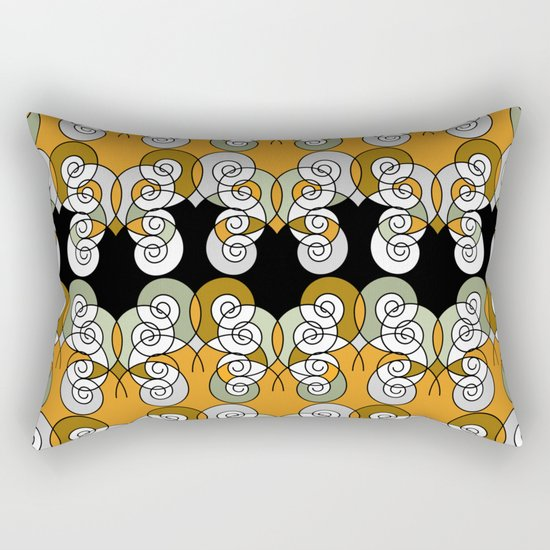 Abstraction . Yellow black spiral. Rectangular Pillow