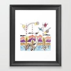 Crane Gang Framed Art Print