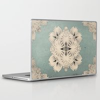 edm Laptop & iPad Skins featuring Ancient Calaabachti Filigrane by Obvious Warrior
