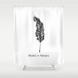 Feather and Quote no.3 Shower Curtain