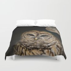 Barred Owl and the Moon Duvet Cover