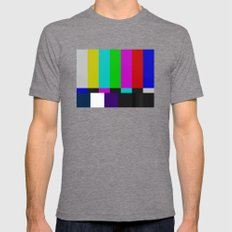 SMPTE Color Bars (as seen on TV) MEDIUM Tri-Grey Mens Fitted Tee