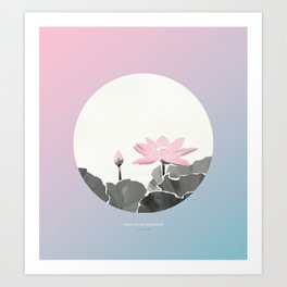 [7.12—7.16] First Lotus Blossoms Art Print
