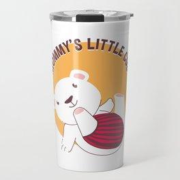 Mommy's Little Cub Cute Baby Polar Bear Travel Mug