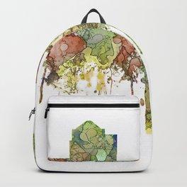 Greensboro, North Carolina Skyline - Faded Glory Backpack