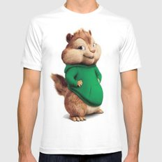 Theodore the cutes chipmunk SMALL White Mens Fitted Tee