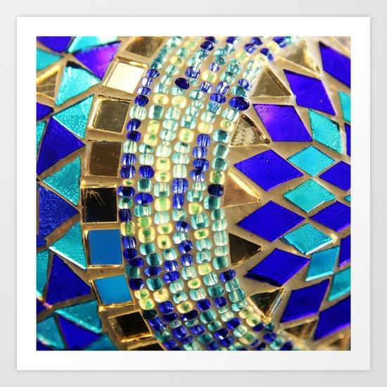 mosaic and beads [photograph] Art Print
