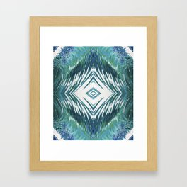 Surfer Waves Ocean Pattern Framed Art Print
