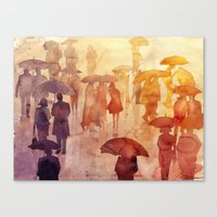takmaj Canvas Prints featuring Summer day by takmaj